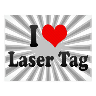I love Laser Tag Post Card