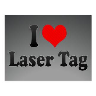 I love Laser Tag Post Cards