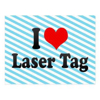 I love Laser Tag Postcard