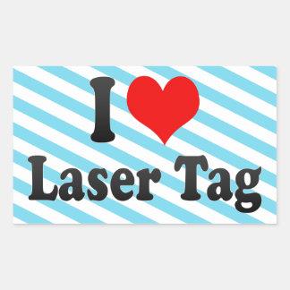 I love Laser Tag Rectangular Sticker