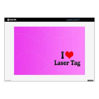 """I love Laser Tag 15"""" Laptop Skins"""