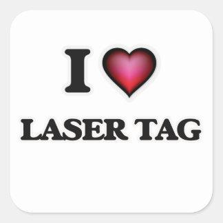 I Love Laser Tag Square Sticker