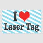 I love Laser Tag Stickers