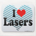 I Love Lasers Mouse Pad