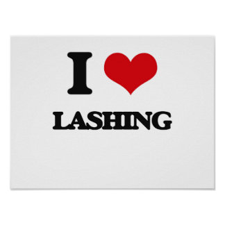I Love Lashings Poster