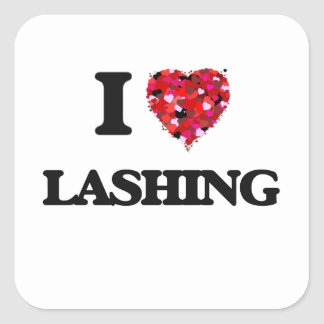 I Love Lashings Square Sticker