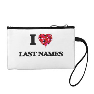 I Love Last Names Coin Wallet