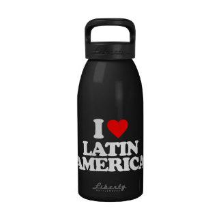 I LOVE LATIN AMERICA REUSABLE WATER BOTTLE