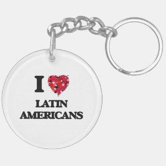 I Love Latin Americans Double-Sided Round Acrylic Keychain