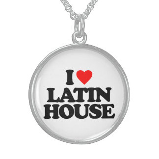 I LOVE LATIN HOUSE STERLING SILVER NECKLACE
