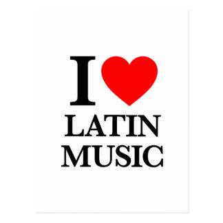 I Love Latin Music Post Card