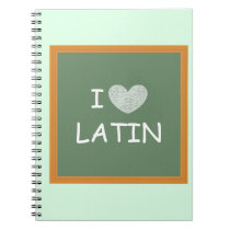 I Love Latin Notebook