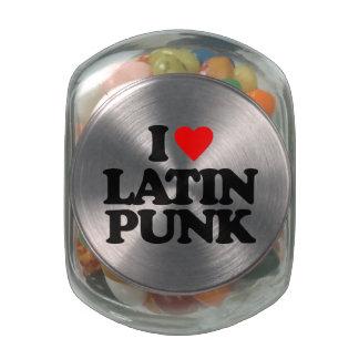 I LOVE LATIN PUNK GLASS CANDY JAR