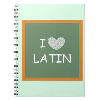 I Love Latin Spiral Notebook