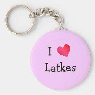 I Love Latkes Keychain