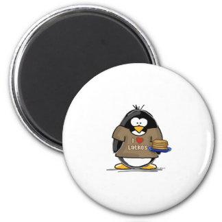 I Love Latkes Penguin Magnet