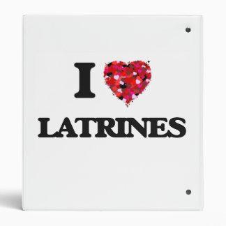 I Love Latrines Vinyl Binders