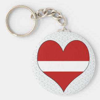 I Love Latvia Keychain