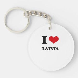 I Love Latvia Acrylic Keychains