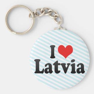 I Love Latvia Keychains