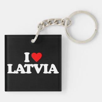 I LOVE LATVIA SQUARE ACRYLIC KEYCHAIN