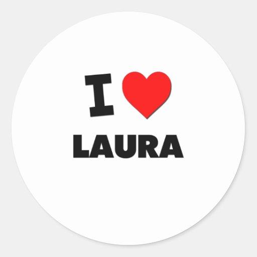 I Love Laura Stickers