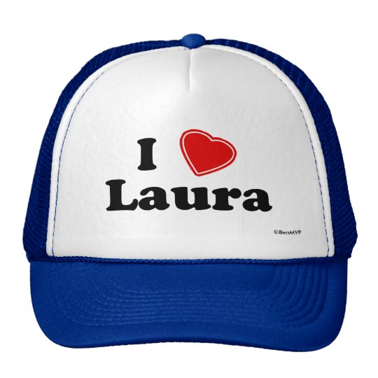 I Love Laura Trucker Hat
