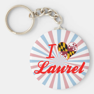 I Love Laurel, Maryland Keychain