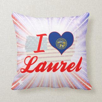 I Love Laurel, Nebraska Pillows