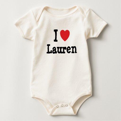 I love Lauren heart T-Shirt