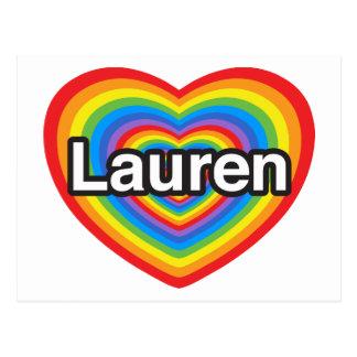 I love Lauren. I love you Lauren. Heart Postcard