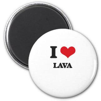 I Love Lava Refrigerator Magnet