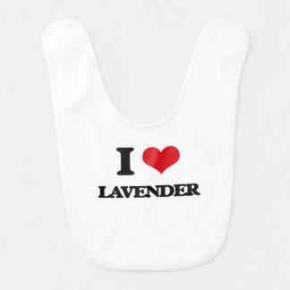 I Love Lavender Bib