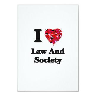 I Love Law And Society 3.5x5 Paper Invitation Card