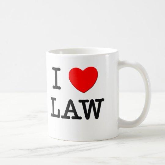I Love Law Coffee Mug