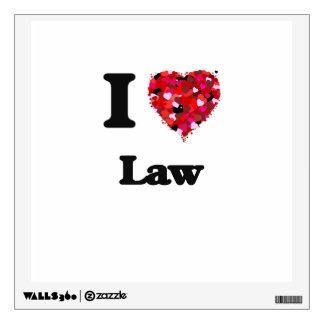 I Love Law Wall Skin