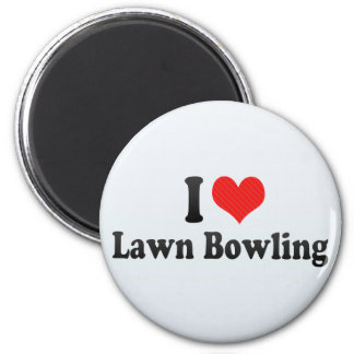 I Love Lawn Bowling 2 Inch Round Magnet