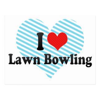 I Love Lawn Bowling Postcard
