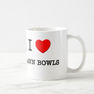 I Love Lawn bowls Classic White Coffee Mug