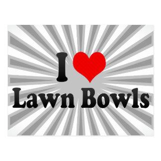 I love Lawn Bowls Postcard