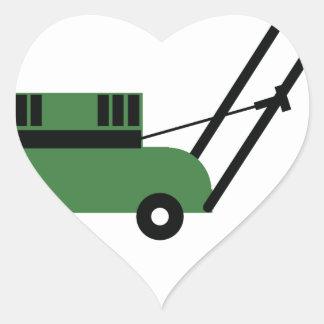 I love Lawn Mowers Heart Sticker