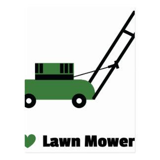 I love Lawn Mowers Postcard