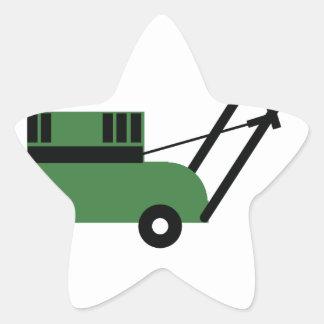 I love Lawn Mowers Star Sticker
