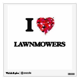 I Love Lawnmowers Wall Stickers
