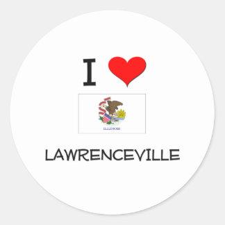 I Love LAWRENCEVILLE Illinois Classic Round Sticker