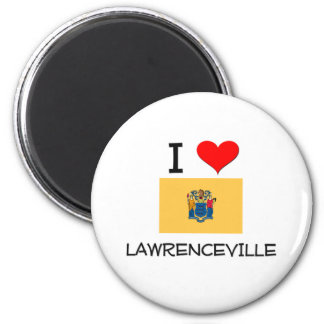 I Love Lawrenceville New Jersey 2 Inch Round Magnet