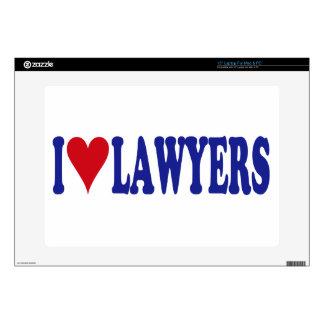 "I Love Lawyers 15"" Laptop Skins"