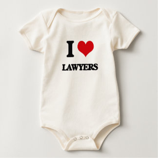 I love Lawyers Baby Bodysuit