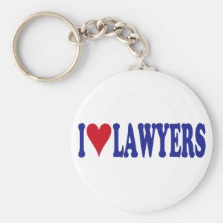 I Love Lawyers Basic Round Button Keychain