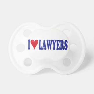 I Love Lawyers BooginHead Pacifier